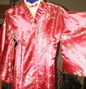 satin/silk robe/ kimono size small 5 years